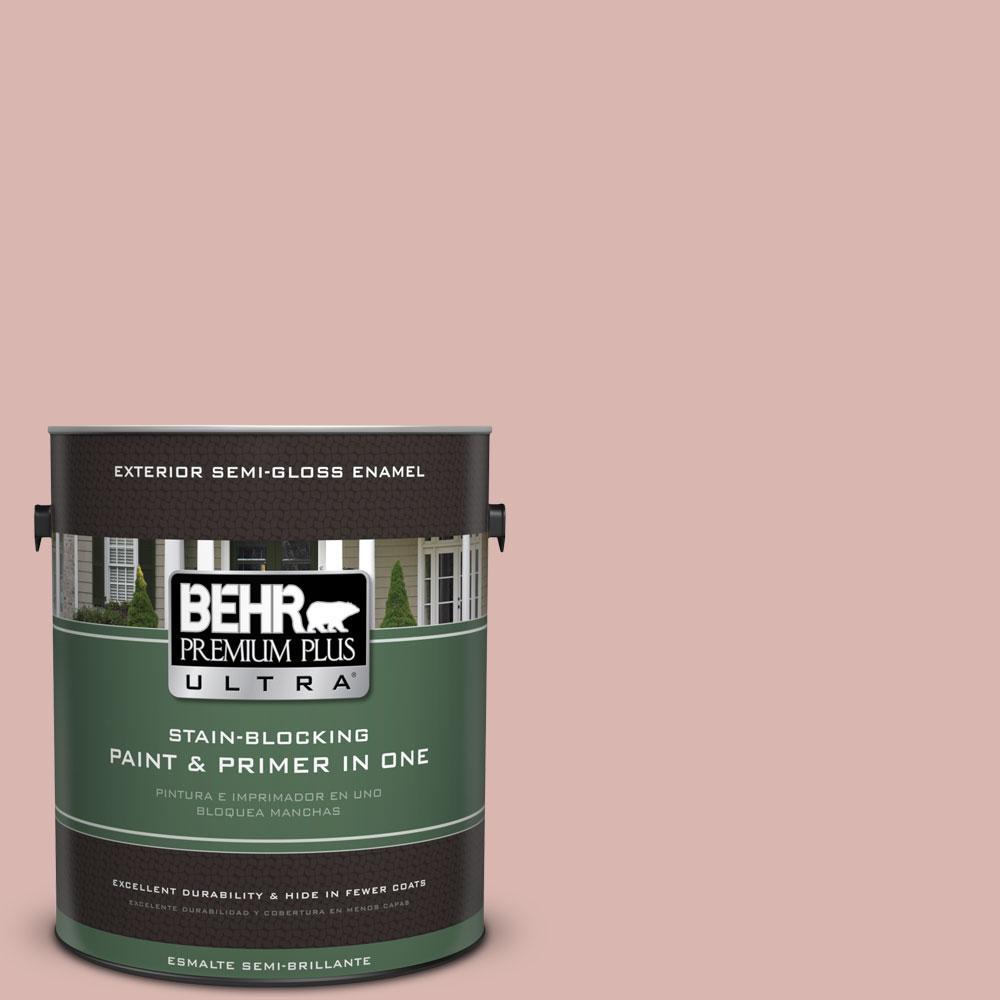 BEHR Premium Plus Ultra 1-gal. #170E-3 Bridal Rose Semi-Gloss Enamel Exterior Paint