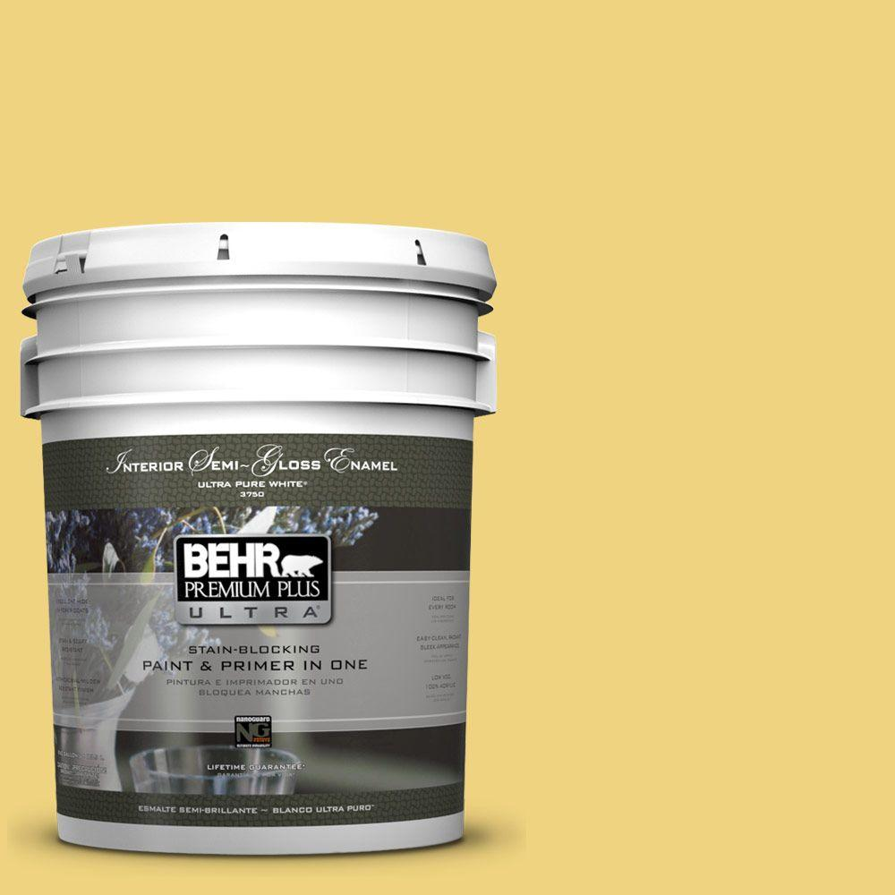 5-gal. #380D-4 Feather Gold Semi-Gloss Enamel Interior Paint