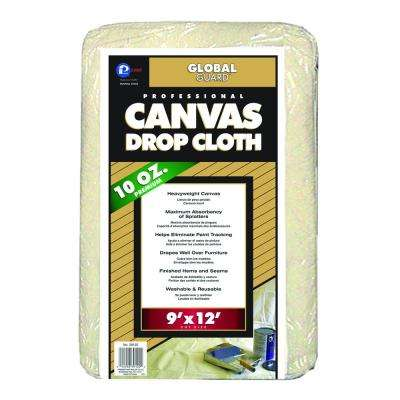9 ft. x 12 ft. Heavy Weight Canvas Drop Cloth (6-Pack)
