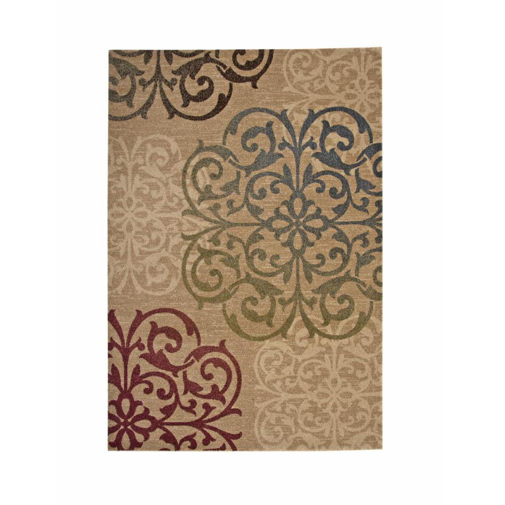 Ava Hana Beige Blue Green Ivory Red 5 Ft X 8 Ft Area Rug 2309 5x8