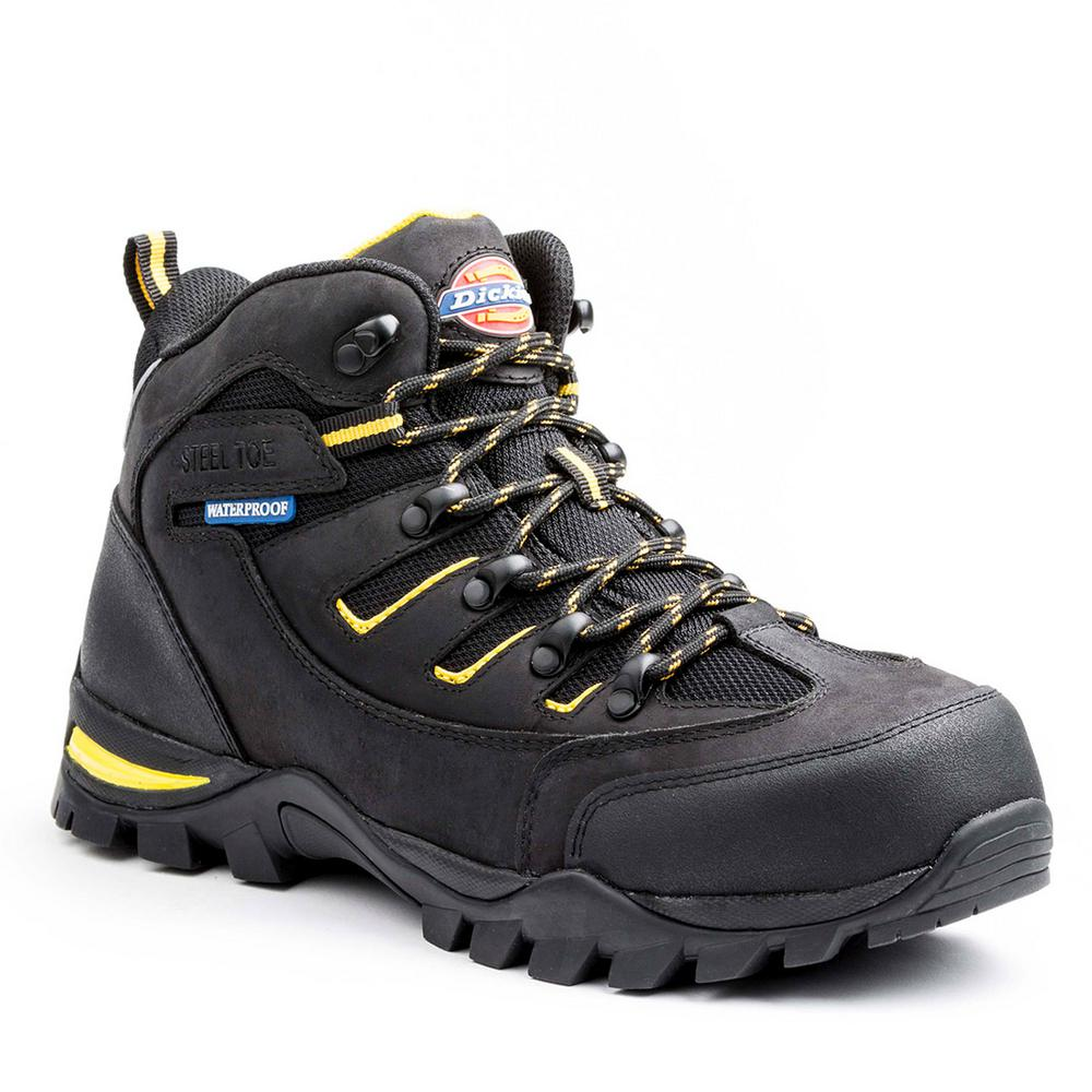 c528da738ad Dickies Sierra Men Size 10.5 Black Leather Steel Toe Work Boot ...