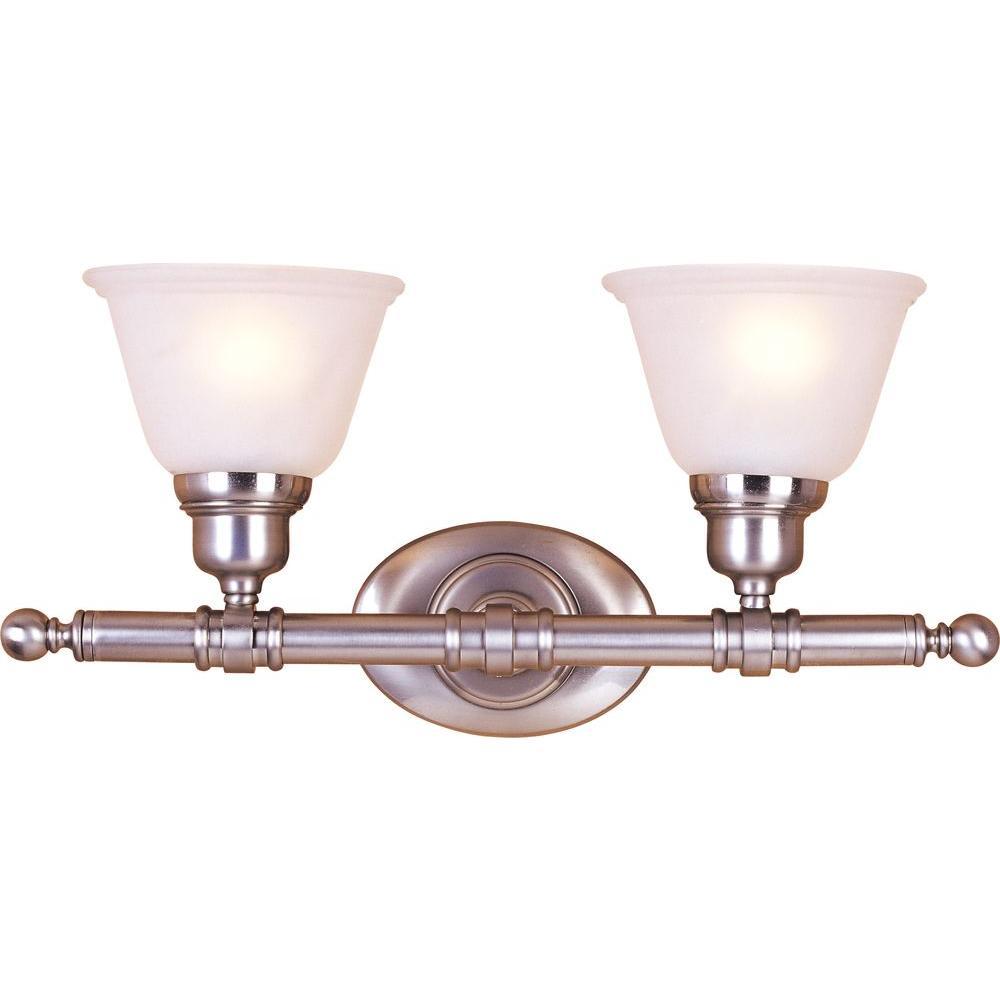 Maxim Lighting Essentials 2-Light Satin Nickel Bath Vanity Light