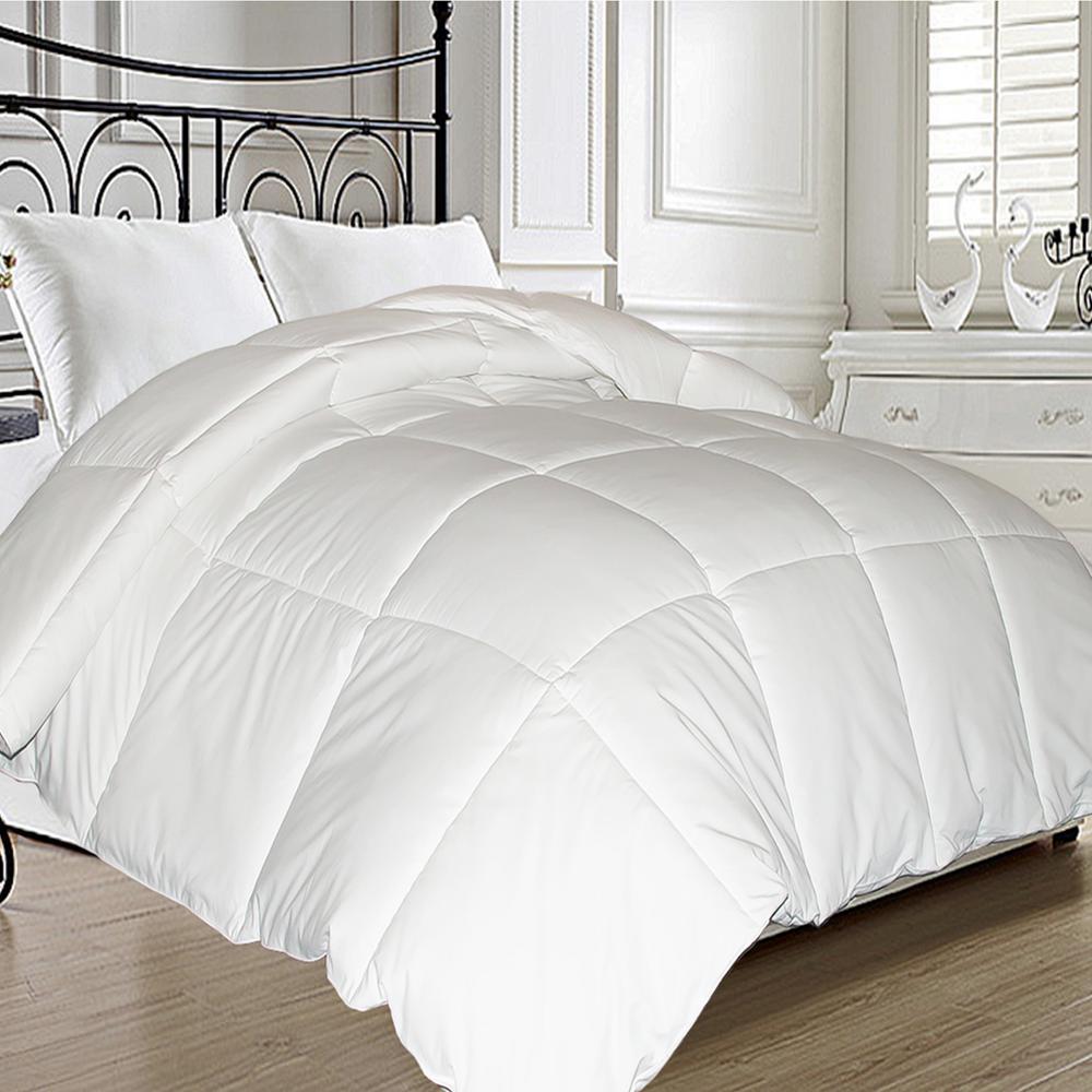 1-Piece White King Comforter Set