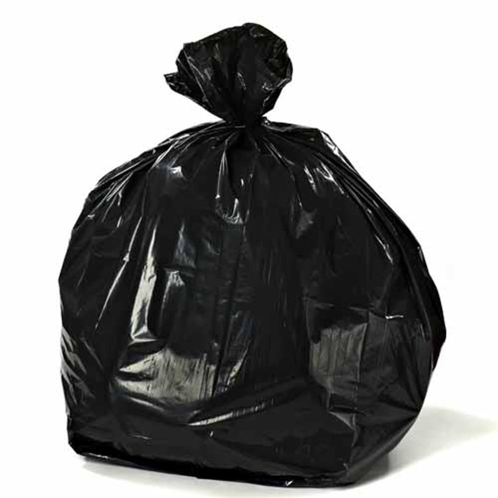 40-45 Gal. Black Trash Bags on Rolls (Total of 100 Bags)