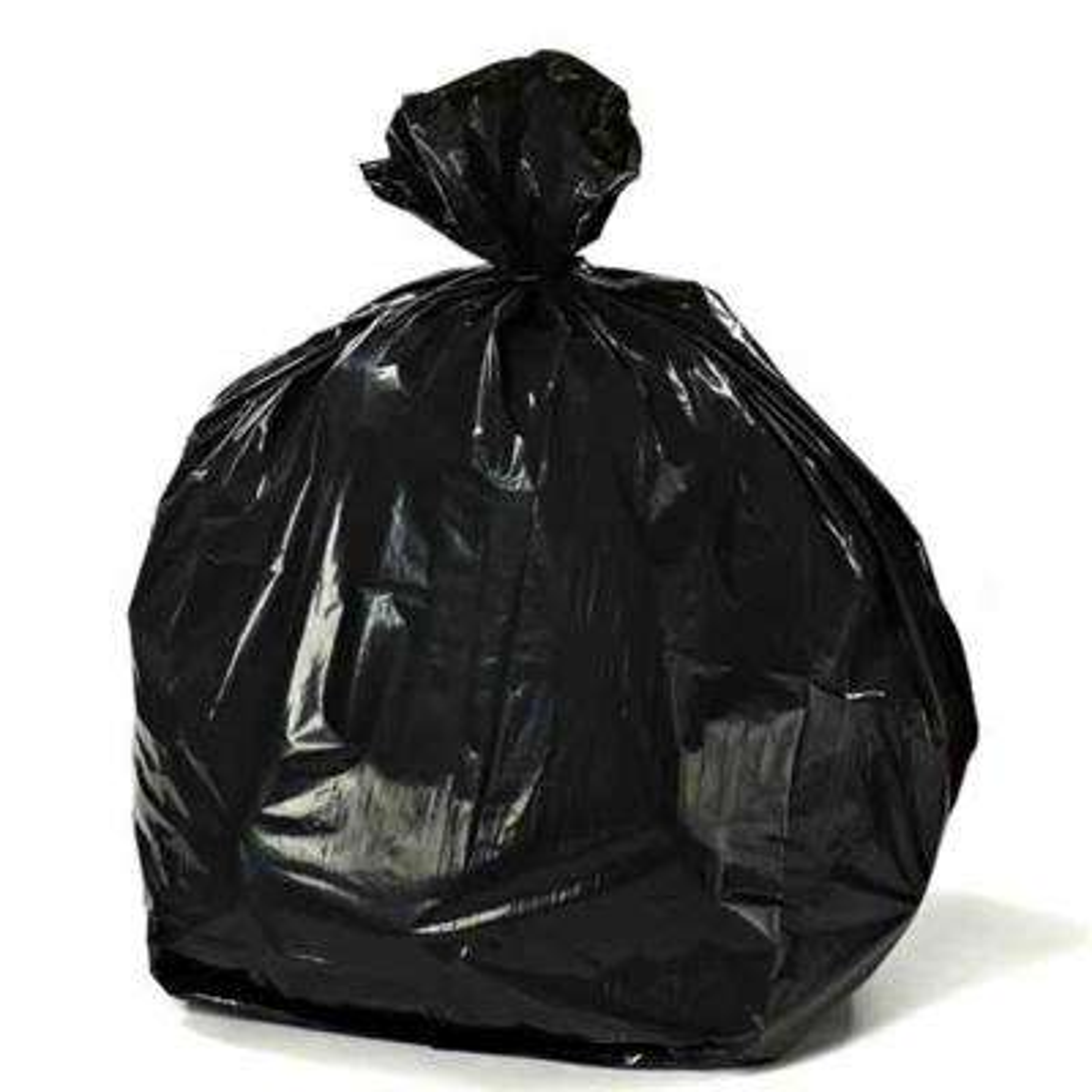 55-60 Gal. Black Trash Bags on Rolls (Total of 100 Bags)