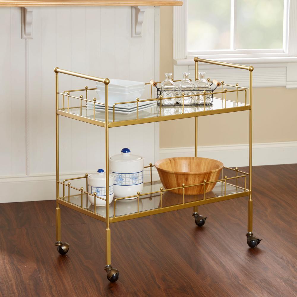 Fitz 2-Tier Gold Serving Cart