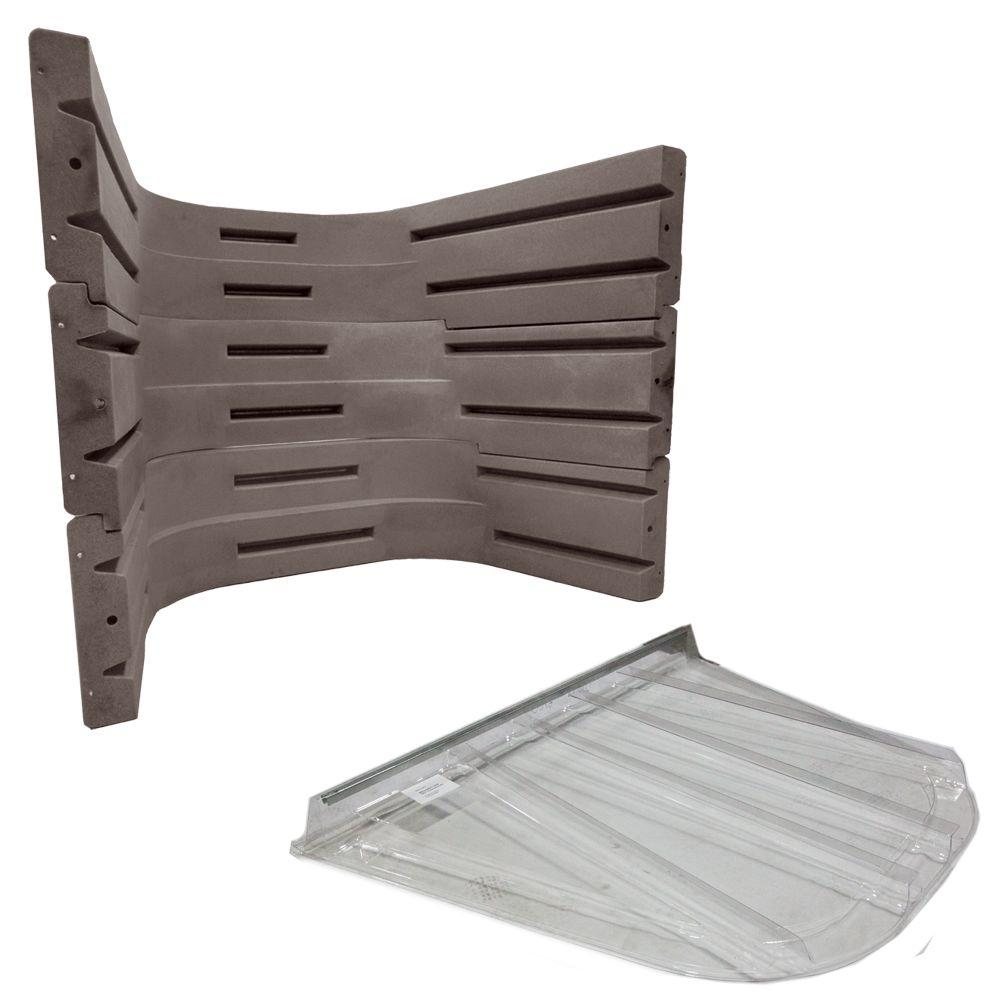 Wellcraft 6700 091 Sandstone Egress Well Kit with Polycar...