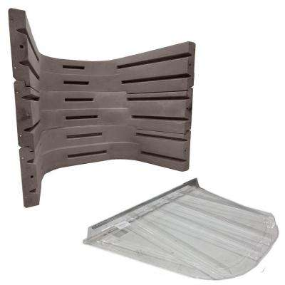 6700 091 Sandstone Egress Well Kit with Polycarbonate Flat Cover Bundle (3-Piece)