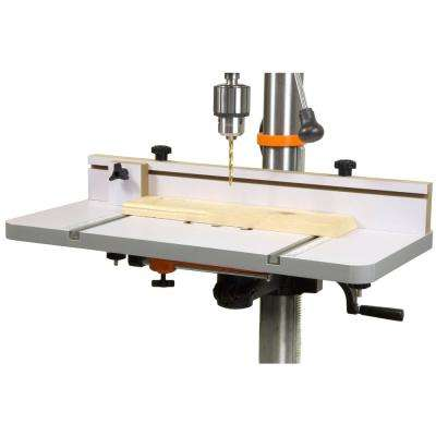 24 in. x 12 in. Drill Press Table with an Adjustable Fence and Stop Block