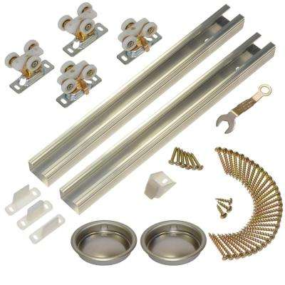 111SD Series 48 in. Track and Hardware Set for 2-Door Bypass Doors