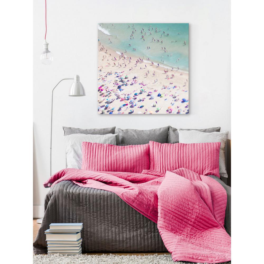 "48 in. H x 48 in. W ""Beach Love II"" by Ingrid Beddoes Printed Canvas Wall Art"