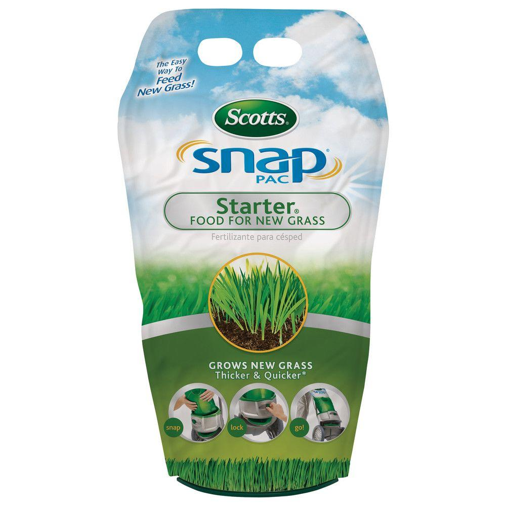Scotts Snap Pac 1318 Lb Starter Lawn Food 24600 The Home Depot