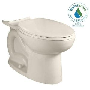 American Standard Cadet 3 FloWise Compact Chair Height Elongated Toilet Bowl Only in Linen by American Standard