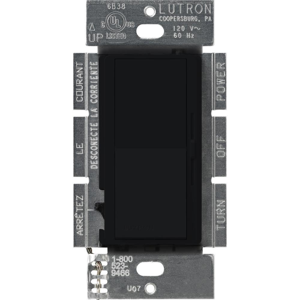 Lutron Diva 1000-Watt Single-Pole Preset Dimmer, Black