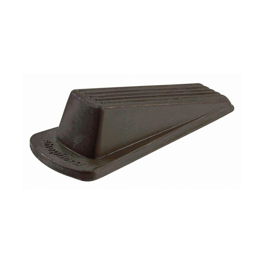 Shepherd Large Brown Rubber Heavy Duty Door Stop