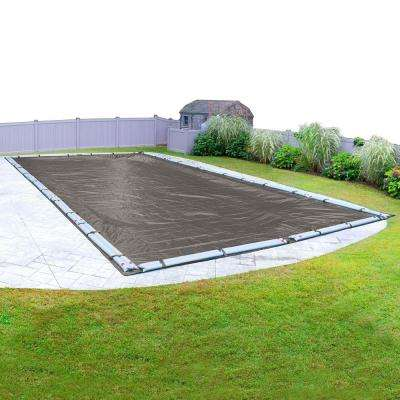12-Year 16 ft. x 24 ft. Rectangle In-Ground Pool Winter Cover