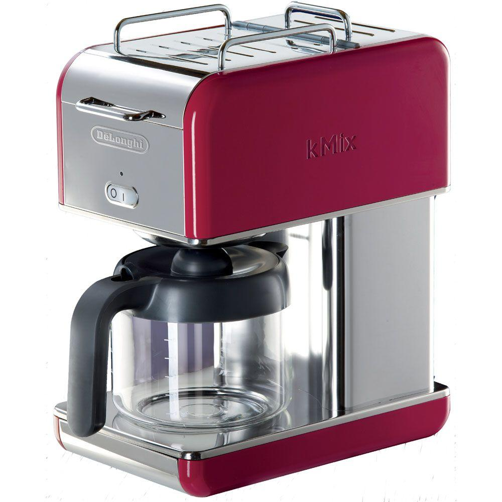 DeLonghi kMix 10-Cup Coffee Maker in Red-DISCONTINUED