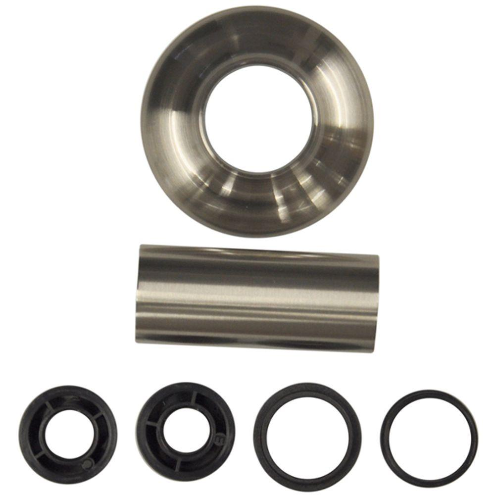 DANCO Universal Tube and Flange Assembly in Brushed Nickel