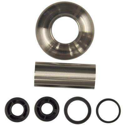 Universal Tube and Flange Assembly in Brushed Nickel
