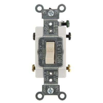 20 Amp Commercial Grade Double-Pole Toggle Switch, Light Almond