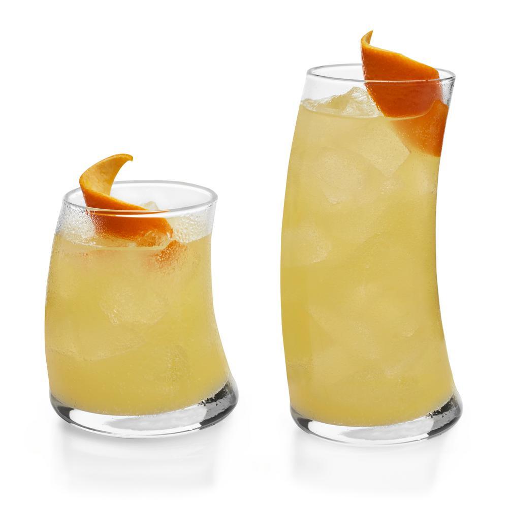 Swerve 16-Piece Drinkware Glass Set