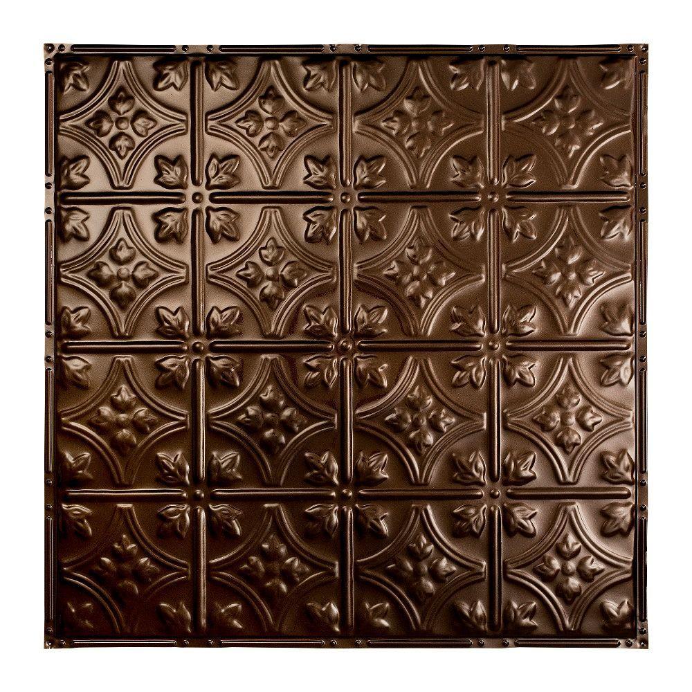 Hamilton 2 ft. x 2 ft. Nail-up Tin Ceiling Tile in Bronze Burst
