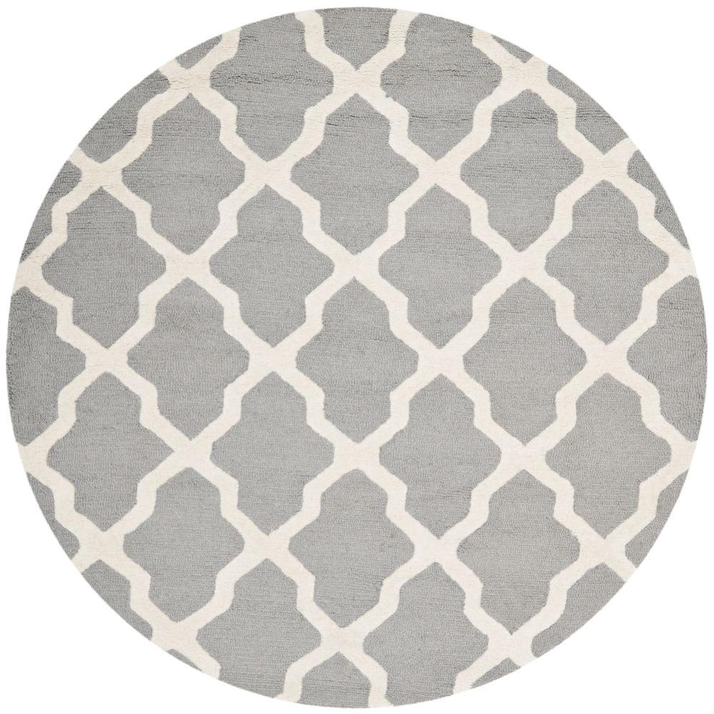 6 ft round rug. Safavieh Cambridge Silver/Ivory 6 Ft. X Round Area Rug Ft M