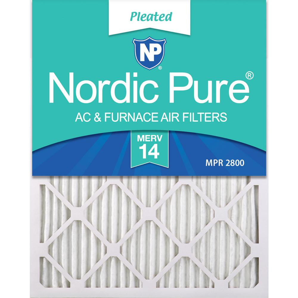 Nordic Pure 12x36x1 MERV 11 Pleated AC Furnace Air Filters 2 Pack