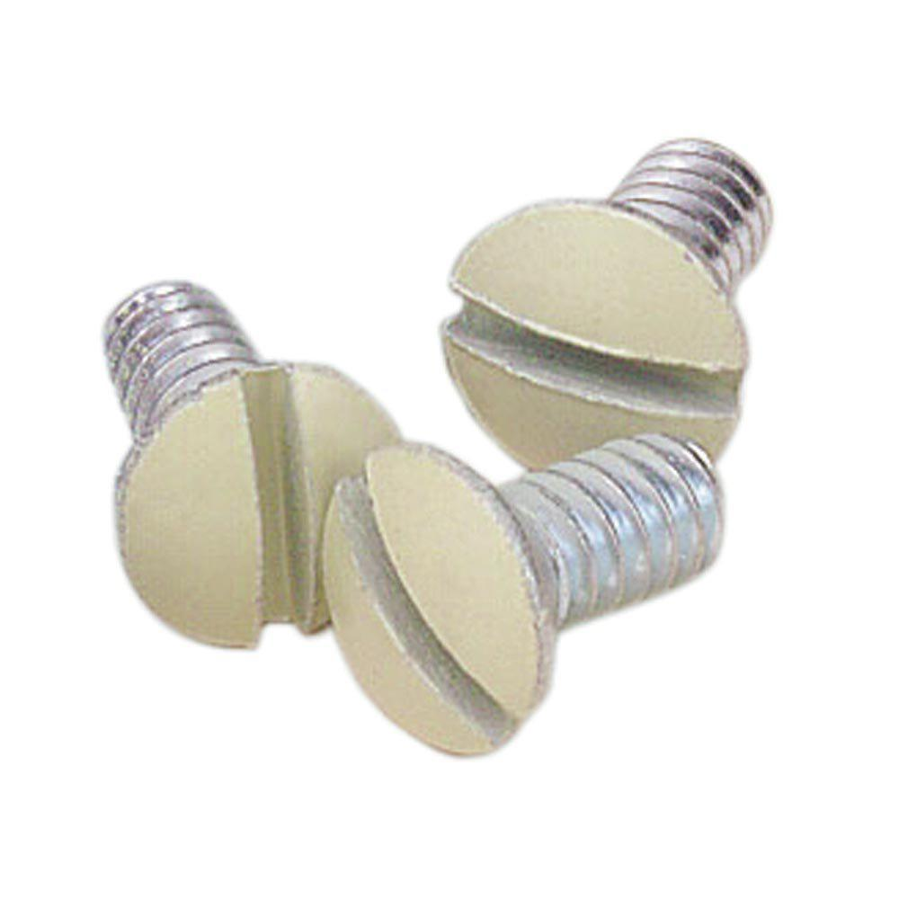 5/16 in. Long 6-32 Thread Replacement Wallplate Screws, Ivory