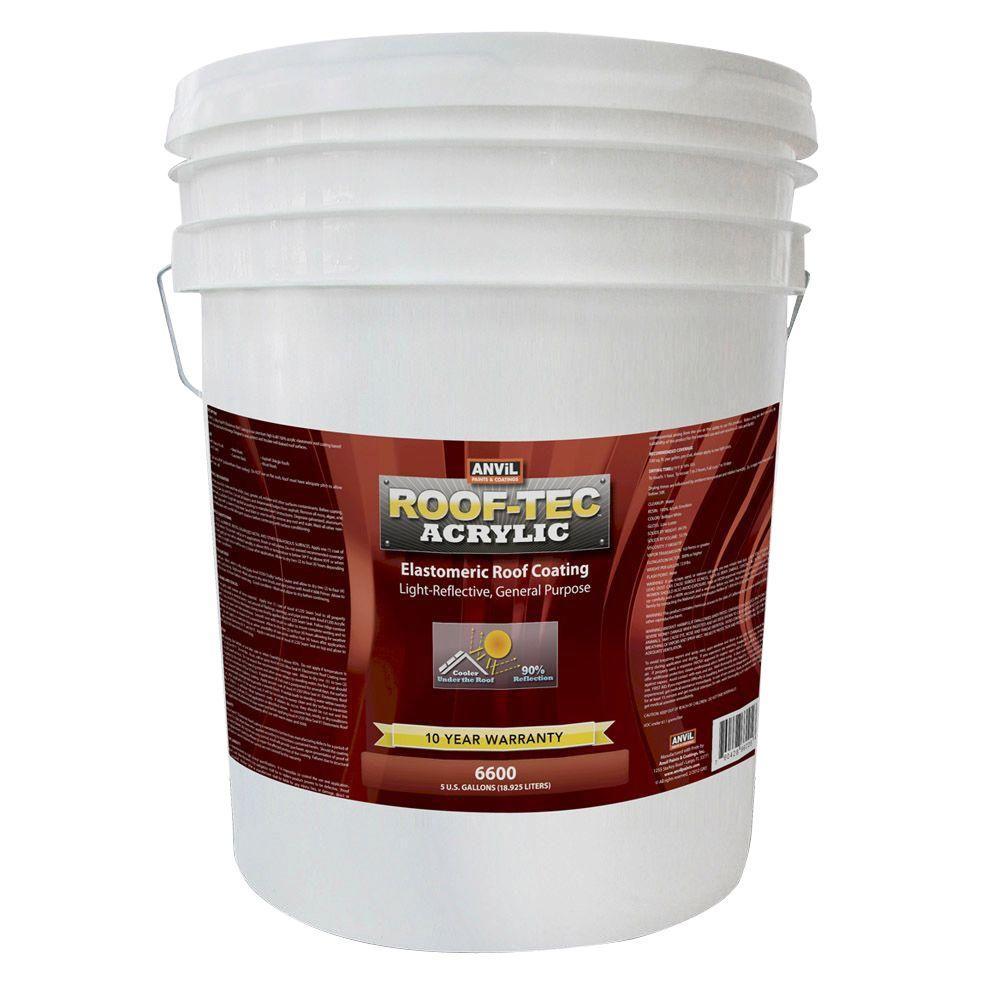 Rv Motorhome White 1 Gal Acrylic Elastomeric Roof Coating