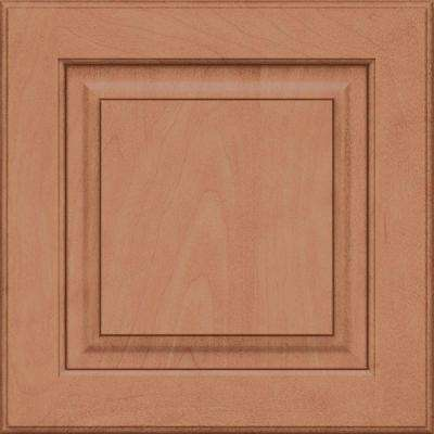 15x15 in. Cabinet Door Sample in Piermont Maple Square with Ginger Sable Glaze