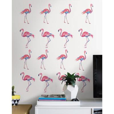 19.5 in. x 34.5 in. Pink Flamingo Wall Decal