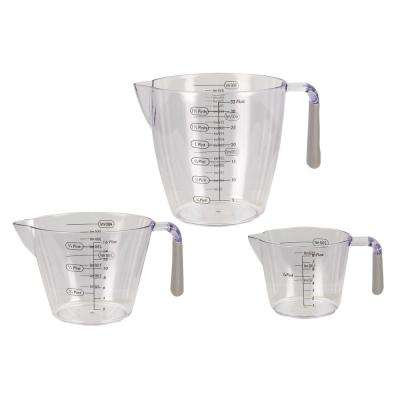 3-Piece Measuring Cup with Rubber Grips