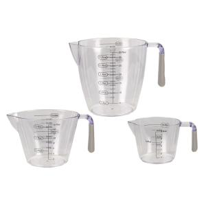 HOME basics 3-Piece Measuring Cup with Rubber Grips by HOME basics