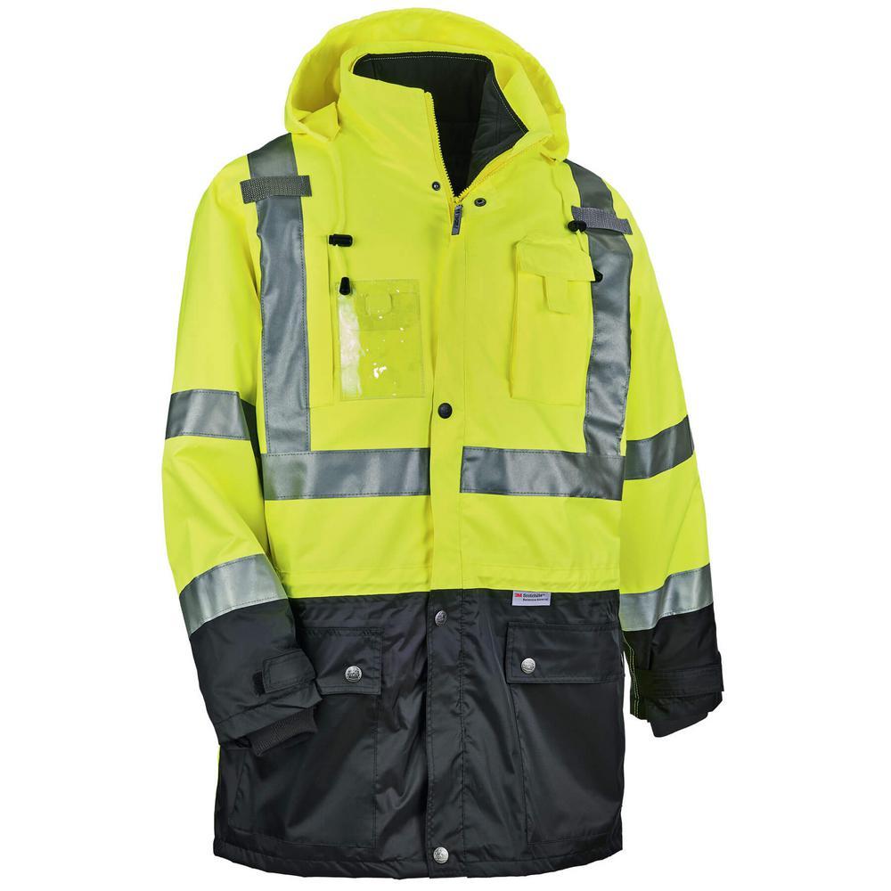 Men's 5X-Large Lime Polyester Reflective Thermal Jacket Kit