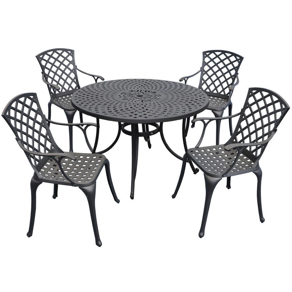 Sedona 5-Piece Metal Outdoor Dining Set