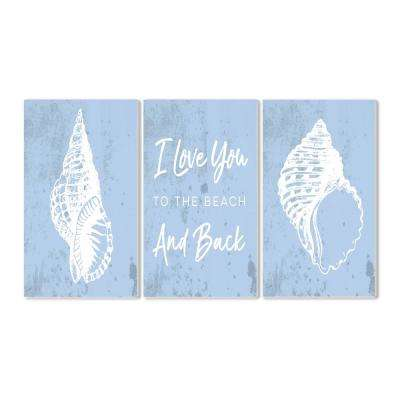 """10 in. x 15 in. """"Love You to the Beach Sheels"""" by Daphne Polselli Printed Wood Wall Art"""