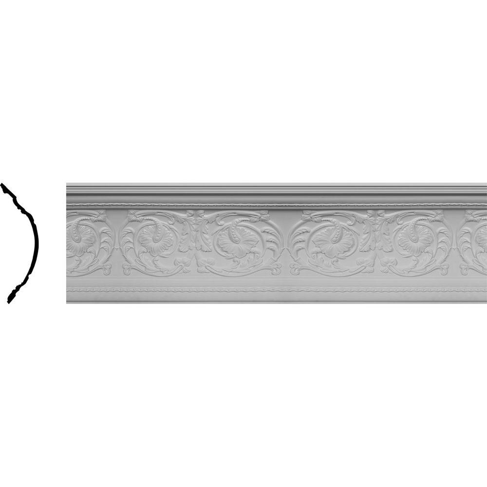 Ekena Millwork 16-1/2 in. x 16-3/8 in. x 82 in. Polyurethane Marcella Crown Moulding