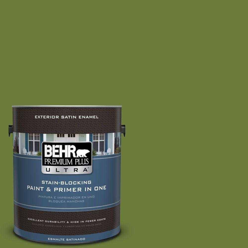 1 gal. #HDC-SM16-11 Hot Dog Relish Satin Enamel Exterior Paint