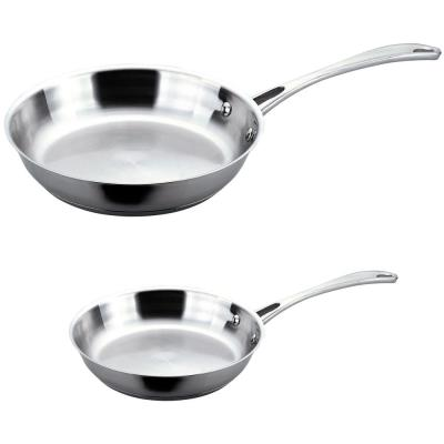 Copper Clad 2-Piece 18/10 Stainless Steel Fry Pan Set