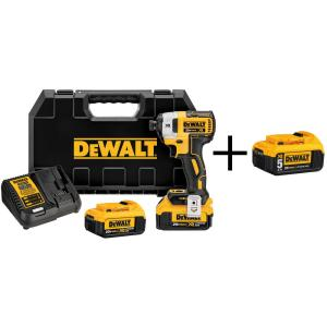 Dewalt 20-Volt MAX XR Lithium-Ion Cordless Brushless 1/4 inch 3-Speed Impact Driver with (2) Batteries 4Ah and... by DEWALT