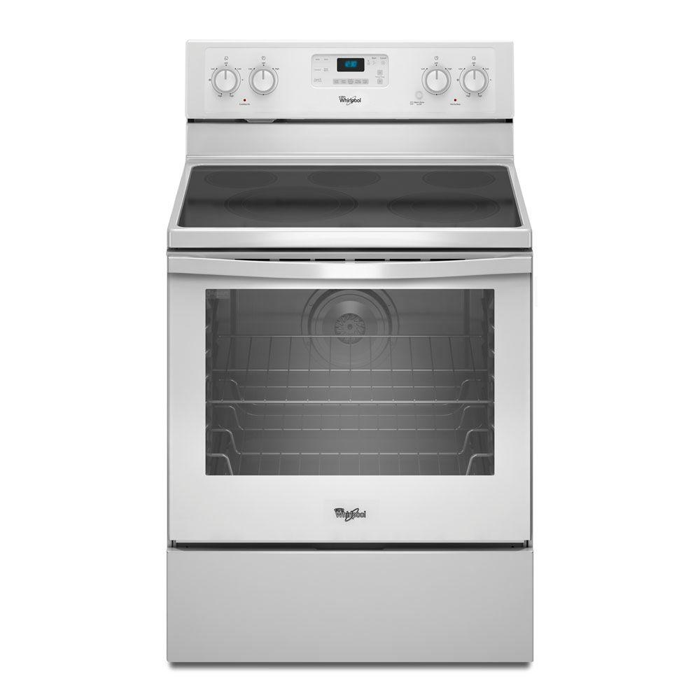 Whirlpool 6.2 cu. ft. Electric Range with Self-Cleaning Convection Oven in White