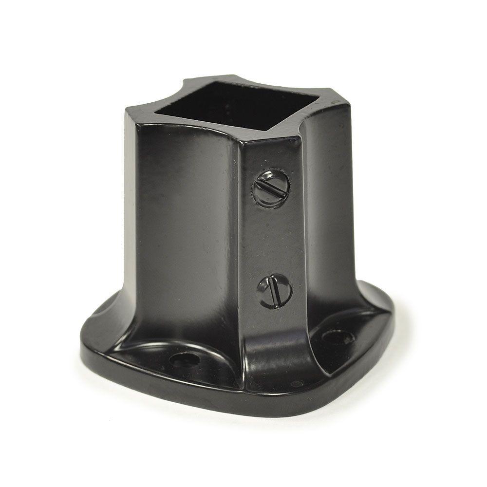 1-1/4 in. X 1-1/4 in. (I.D.) Black Painted Aluminum Floor Flange