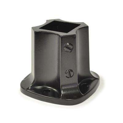 1-1/4 in. X 1-1/4 in. (I.D.) Black Painted Aluminum Floor Flange