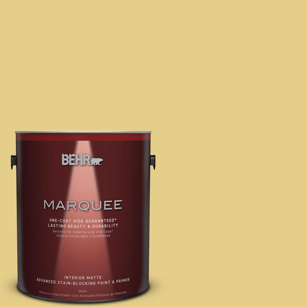 BEHR MARQUEE 1 gal. #T12-6 Lol Yellow Matte Interior Paint-145401 ...