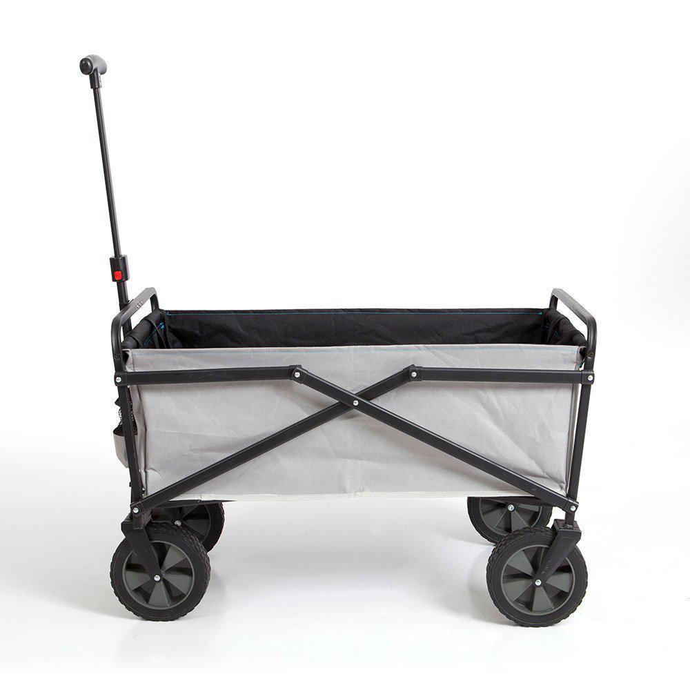 SEINA 150 lbs. Capacity Manual Folding Steel Wagon Outdoor Garden Cart in Gray