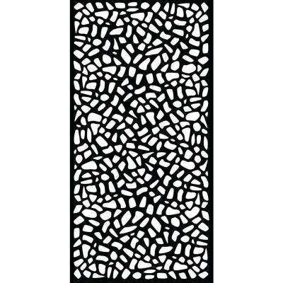 Riverbank 0.3 in. x 71 in. x 2.95 ft. Recycled Plastic Decorative Screen in Slimline Frame in Charcoal (Bundle of 5)