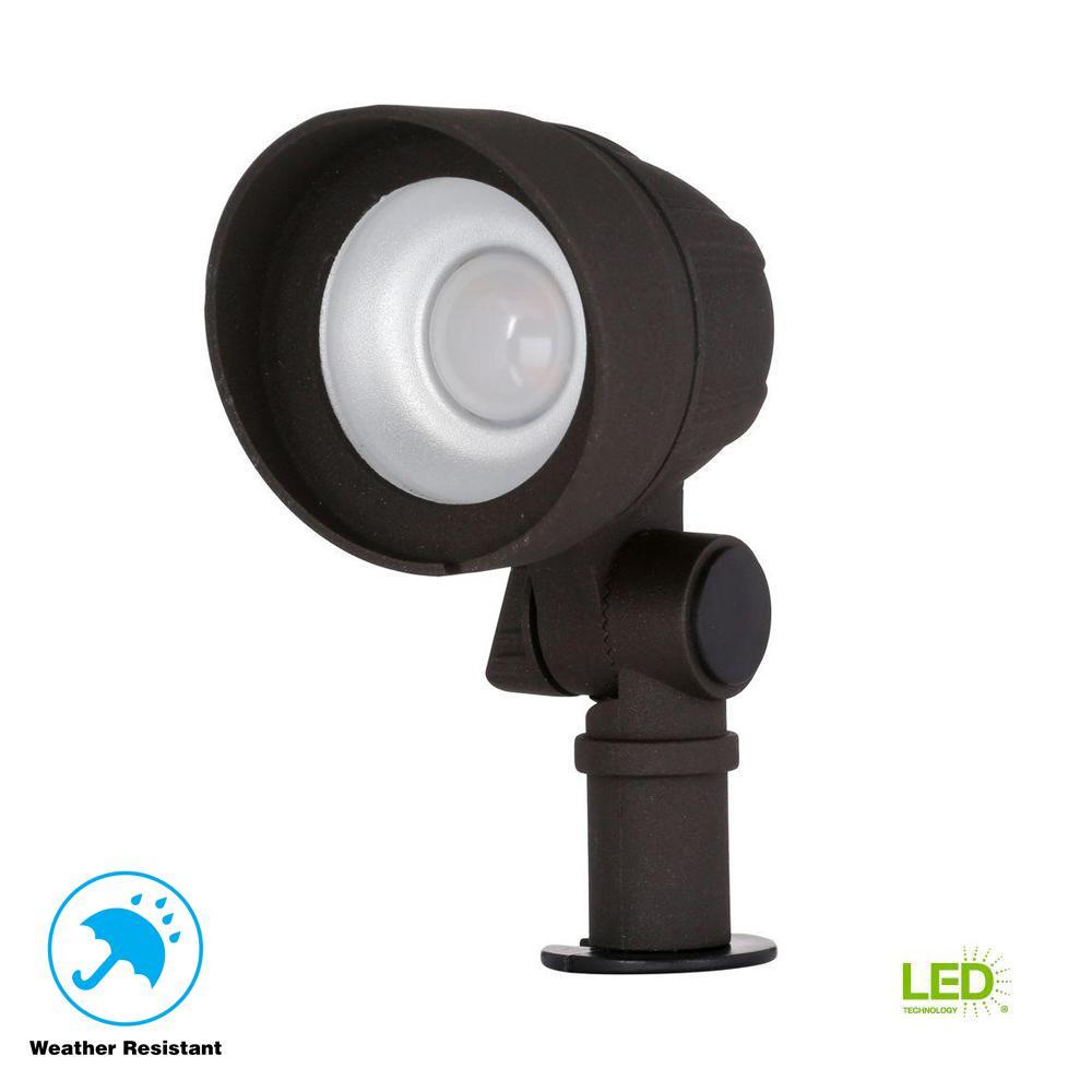 Low-Voltage 20-Watt Equivalent Bronze Outdoor Integrated LED Landscape Flood Light