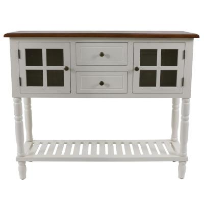 Taylor White with Wood Top Buffet