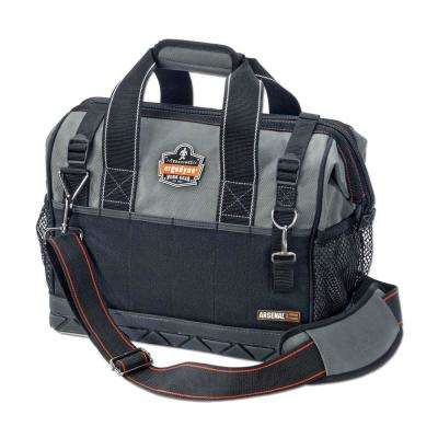 Arsenal 14.5 in. Wide Mouth Tool Bag in Gray